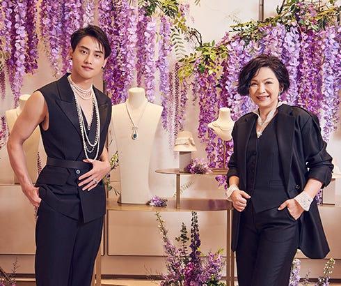楊貴媚、范少勳共同出席記者會,頌揚珍珠個性美,詮釋MIKIMOTO珍珠珠寶的多變與不變。